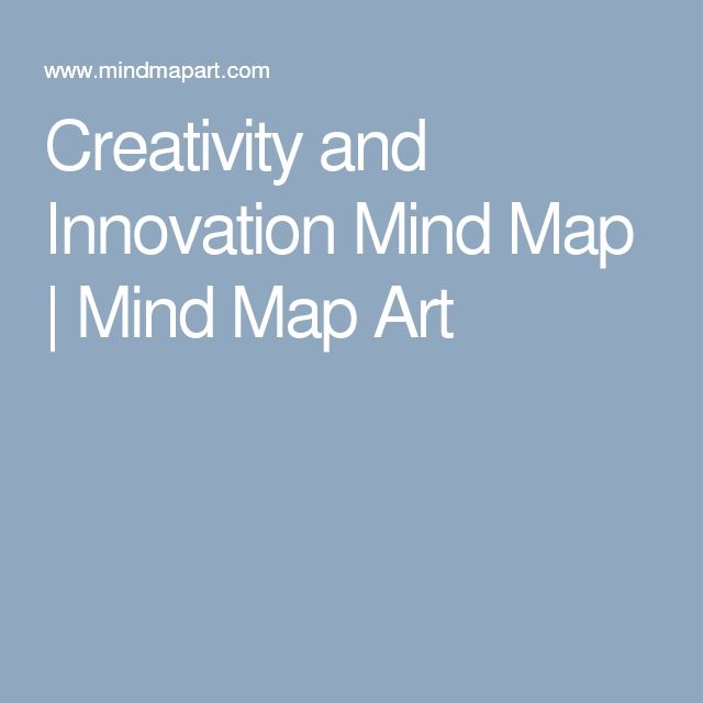 Creativity and Innovation Mind Map | Mind Map Art