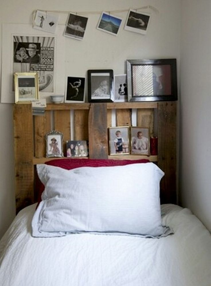 715 best pallet beds headboards images on pinterest for Pallet headboard with shelves