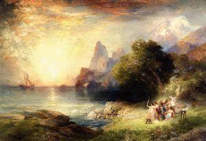 Ulysse et les sirènes - (Thomas Moran)