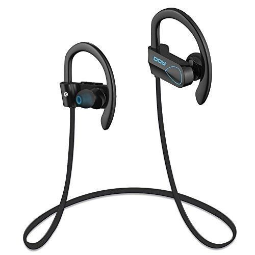 Bluetooth Headphones DOY Wireless Earphones Sports Waterproof Earbuds with Mic and APT-X Secure Fit Running Cycling Hiking for iPhone 7 7Plus Samsung S6 and Other Bluetooth Devices(Blue)