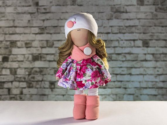 Doll Marta. Tilda doll. Textile doll. Soft toy. Cute от OwlsUa