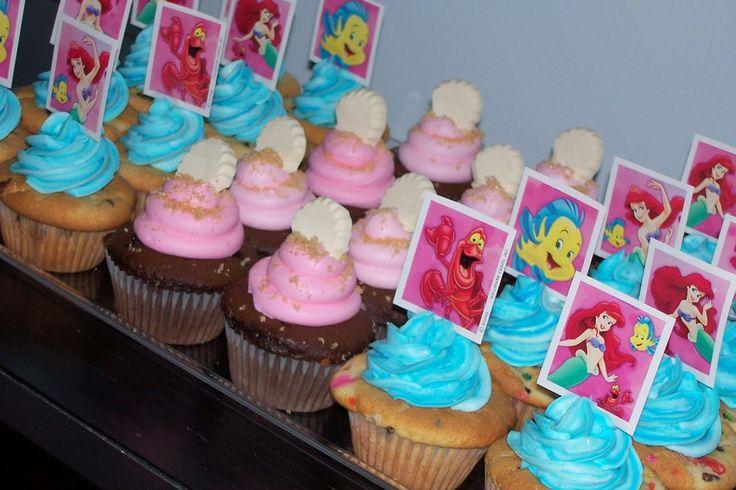 brown sugar little mermaid cupcakes
