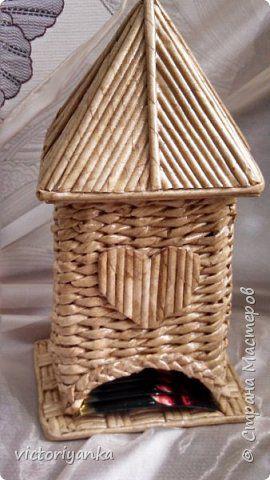 Поделка изделие Плетение плетение в отпуске Трубочки бумажные фото 9