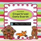 Preschool Gingerbread Game Boards - Counting 1-6 and Spati