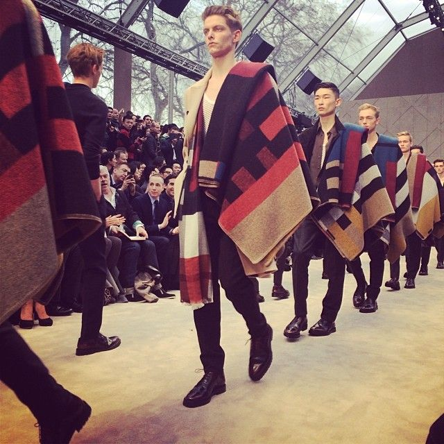 The finale of the #Burberry show today #LCM