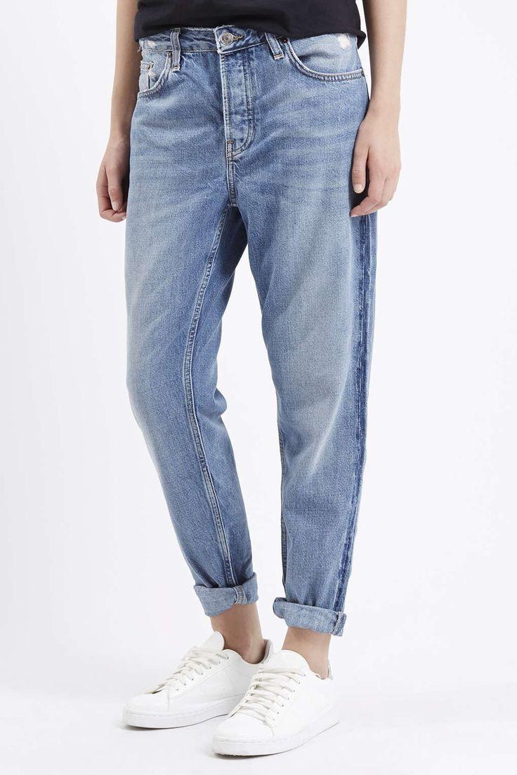MOTO Blue Hayden Boyfriend Jeans - Topshop