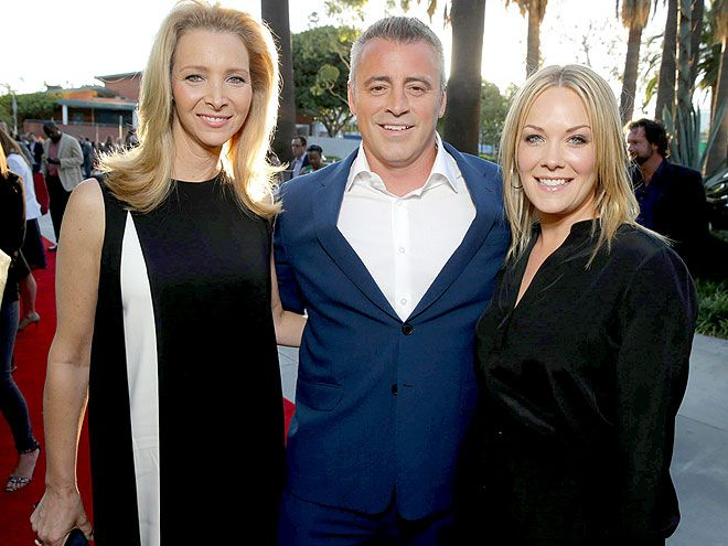 Star Tracks: Friday, July 18, 2014   I'LL BE THERE FOR YOU   They're three times as funny! Matt LeBlanc reunites with his Friends costar Lisa Kudrow and Joey costar Andrea Anders at Showtime's Annual Summer Soiree during the 2014 Television Critics Association on Thursday in Los Angeles.