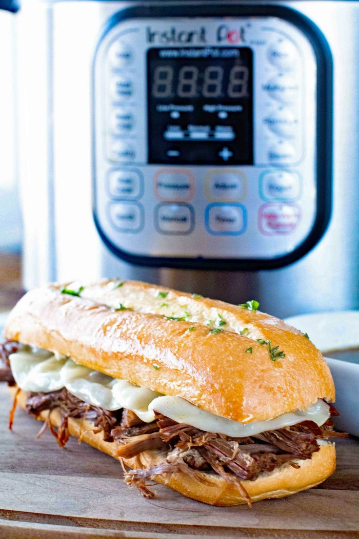 {Instant Pot} Pressure Cooker French Dip Sandwich ~ Delicious, Tender Beef Cooked in Your Pressure Cooker and Turned Into the BEST French Dip Sandwiches!