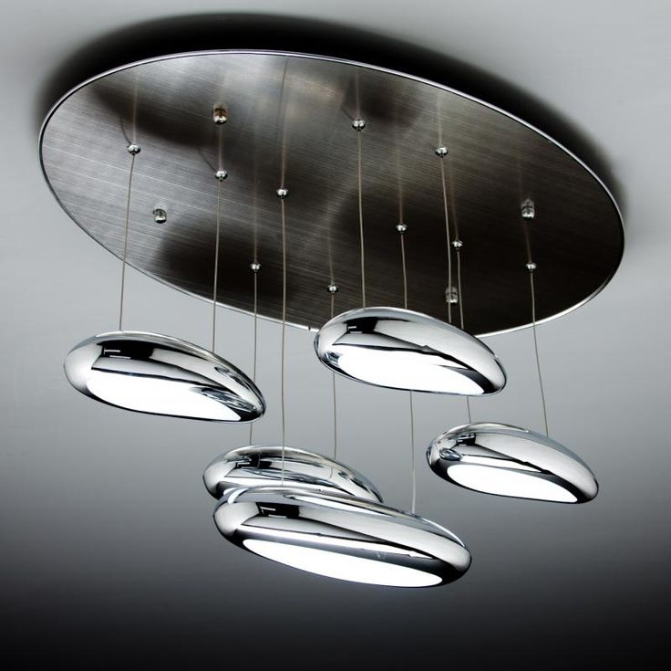 Drop Design 5B Lampadario a Sospensione Led Salotto Moderno — Import ...