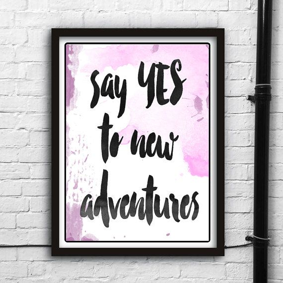 Adventure! Printable digital art,Ispirational Posters,Motivational PostersWall decor,Instant Download print,Thypographic print,Watercolor