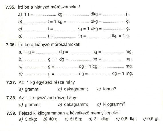 Tömegmérés - infomatek.lapunk.hu