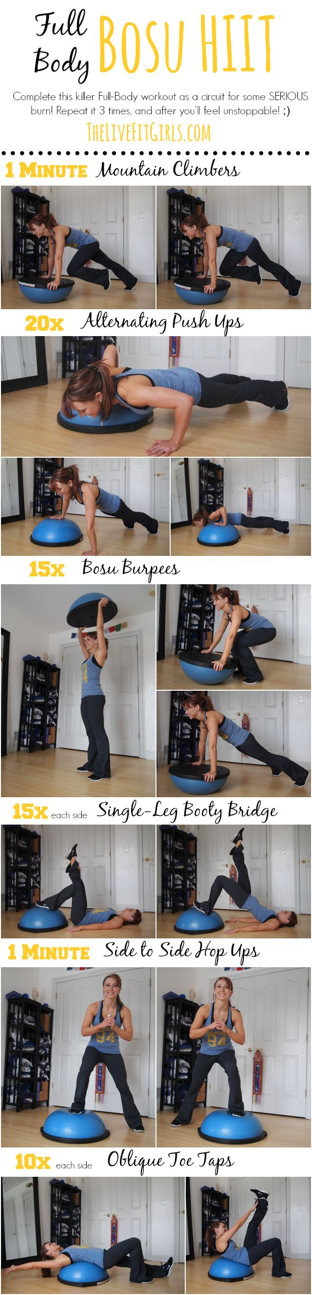 Bosu HIIT Workout, BOSU Body Blast! Head to toe toning and strengthening with the BOSU! #pei