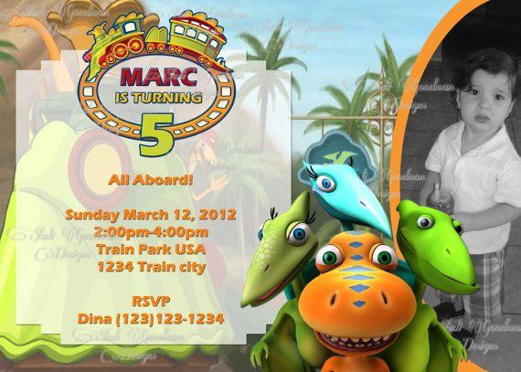 29 best dinosaur train party images on pinterest | birthday party, Birthday invitations