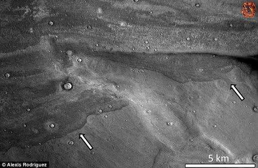 Bekas tsunami raksasa di Mars, Kredit : Alexis Rodriguez   SpaceNesia - Dulu, Sekitar 3,4 miliar tahun yang lalu, tata surya kita sangatl...