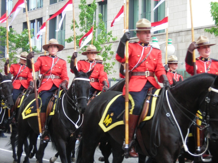 Mounted RCMP accompanying the Governor General Canada Day 2009 Ottawa ON