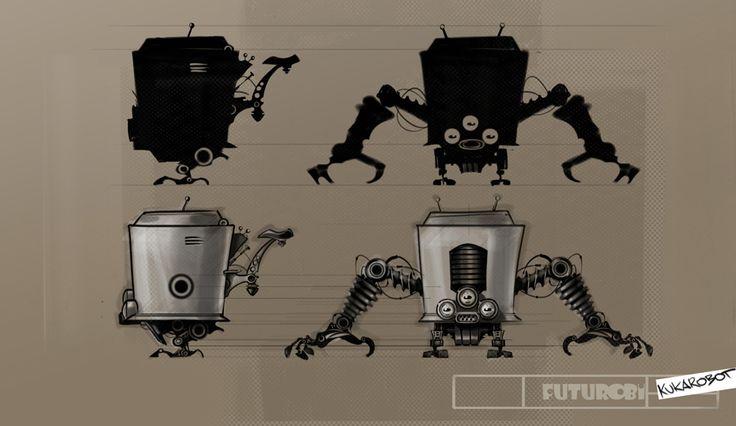 "Concept for the ""Futurobi"" cartoon series."