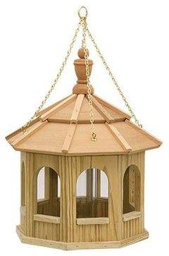 Greyfield Small Hanging Gazebo Birdfeeder - contemporary - bird feeders - Fifthroom.com