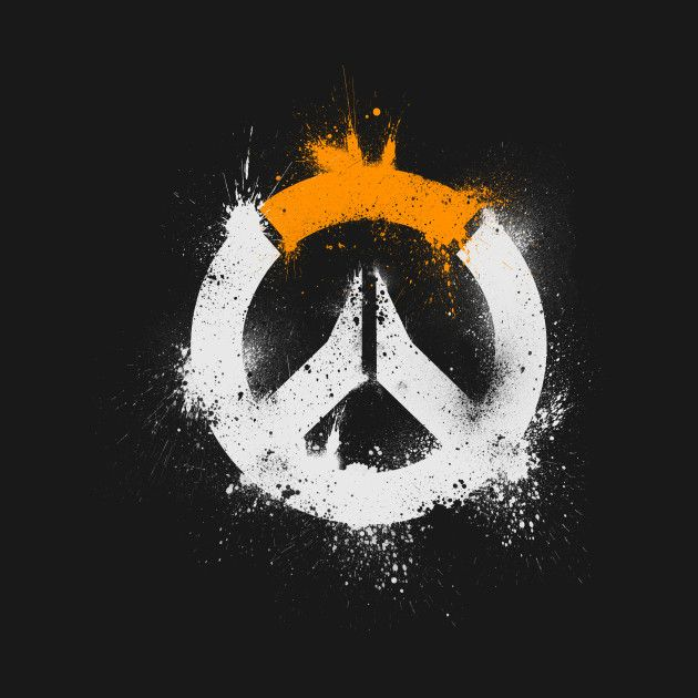 Awesome 'Overwatch+Logo%21+%5BSpray-Painted%5D' design on TeePublic! - Funny Shirt (SciFi Tshirts)