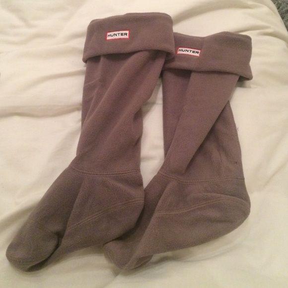 tall grey hunter socks tall poly socks, worn maybe twice Hunter Boots Accessories Hosiery & Socks