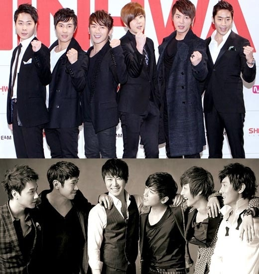 Shinhwa, old enough to be my dad but their still HOTT! ;)