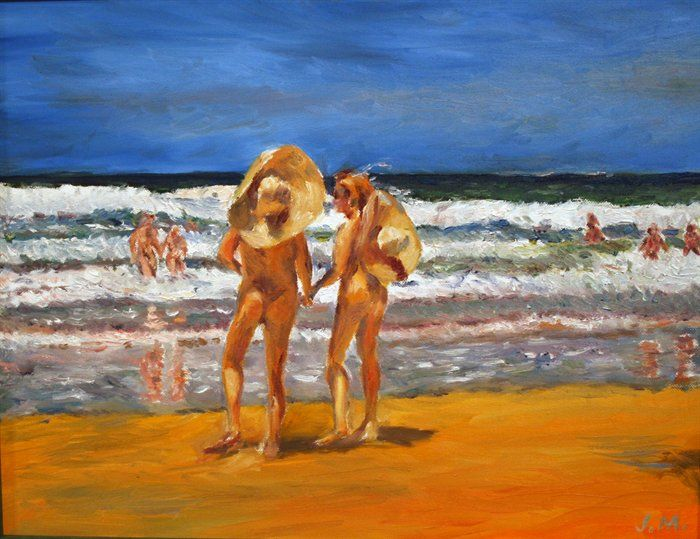 Couples, at Samurai Beach Carnival by Jo Mulholland
