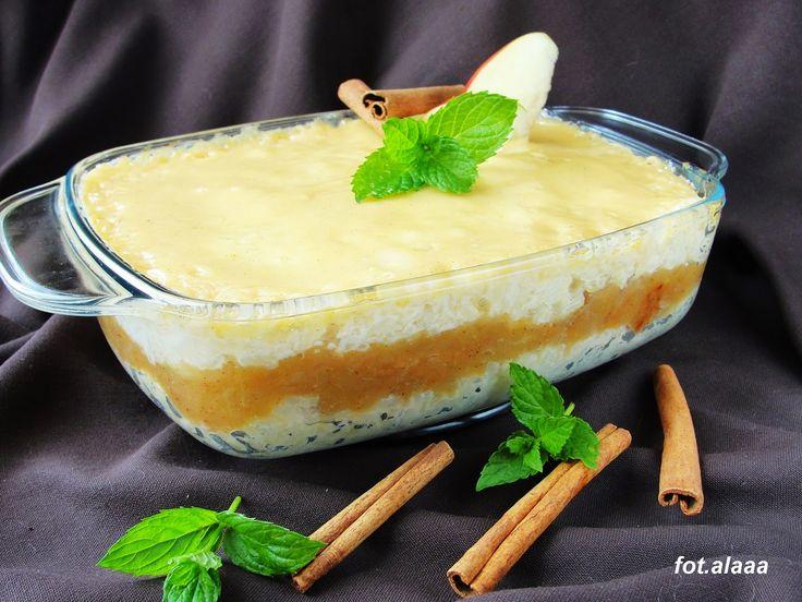 Ala piecze i gotuje: Ryż z jabłkami i polewą z śmietany