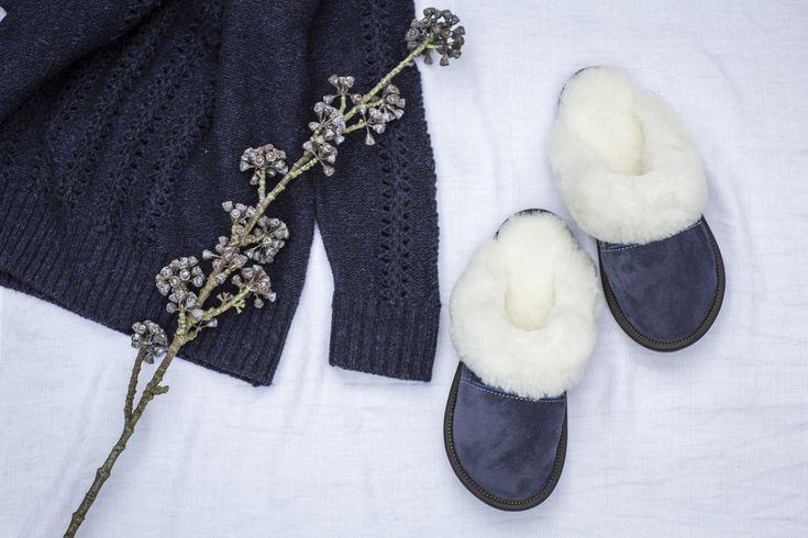 Suede Sheepskin Slippers