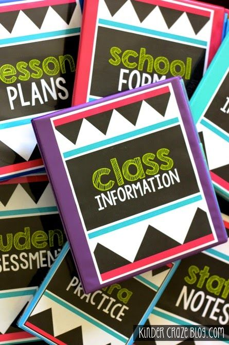 Back to School Organization with Avery Products, FREE Binder Covers and a GIVEAWAY - Kinder Craze: A Kindergarten Teaching Blog
