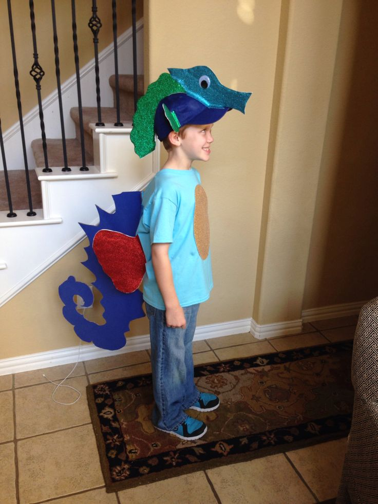 Seahorse costume diy projects to try pinterest for Kids fish costume