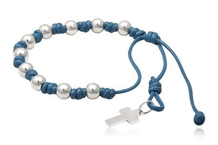 DECENARIOS rosary bracelet dark blue