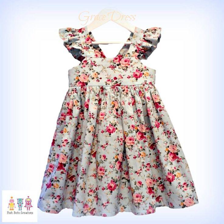 The Grace Dress available to order in sizes 0-6 #boodesigns #gracedress #handmade #girlsdress