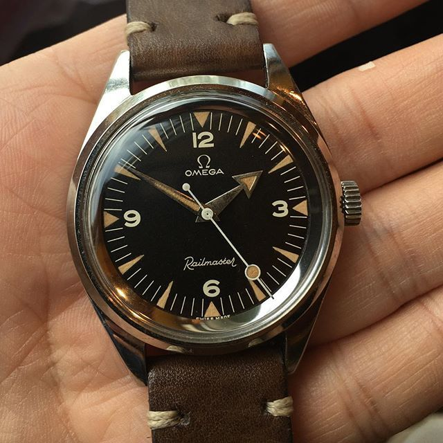 The nicest railmaster ever! ❤️ From @theydid #watcheswithpatina #omega…