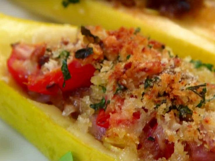 Stuffed Summer Squash Boats | JM- this calls for turkey sausage but I'm a fan of Pork sausage.