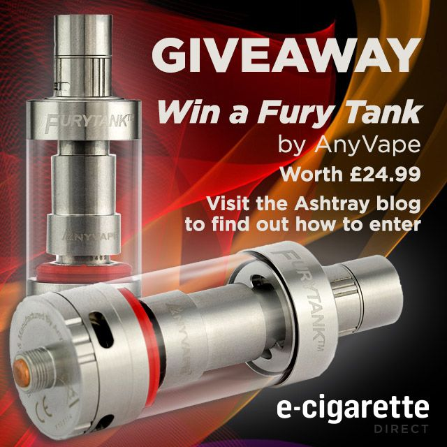 Giveaway: The Fury Tank – THREE Chances to Win http://www.ecigarettedirect.co.uk/ashtray-blog/giveaways/fury-tank?lucky=14151