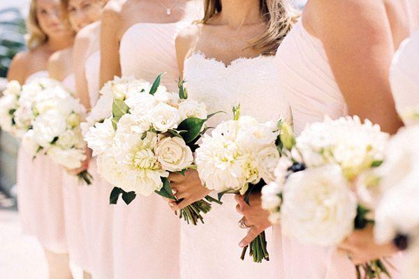 "blush bridesmaid dresses ""pink is back!"""