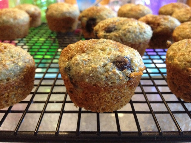 100% Whole Wheat Low Fat Blueberry Muffins