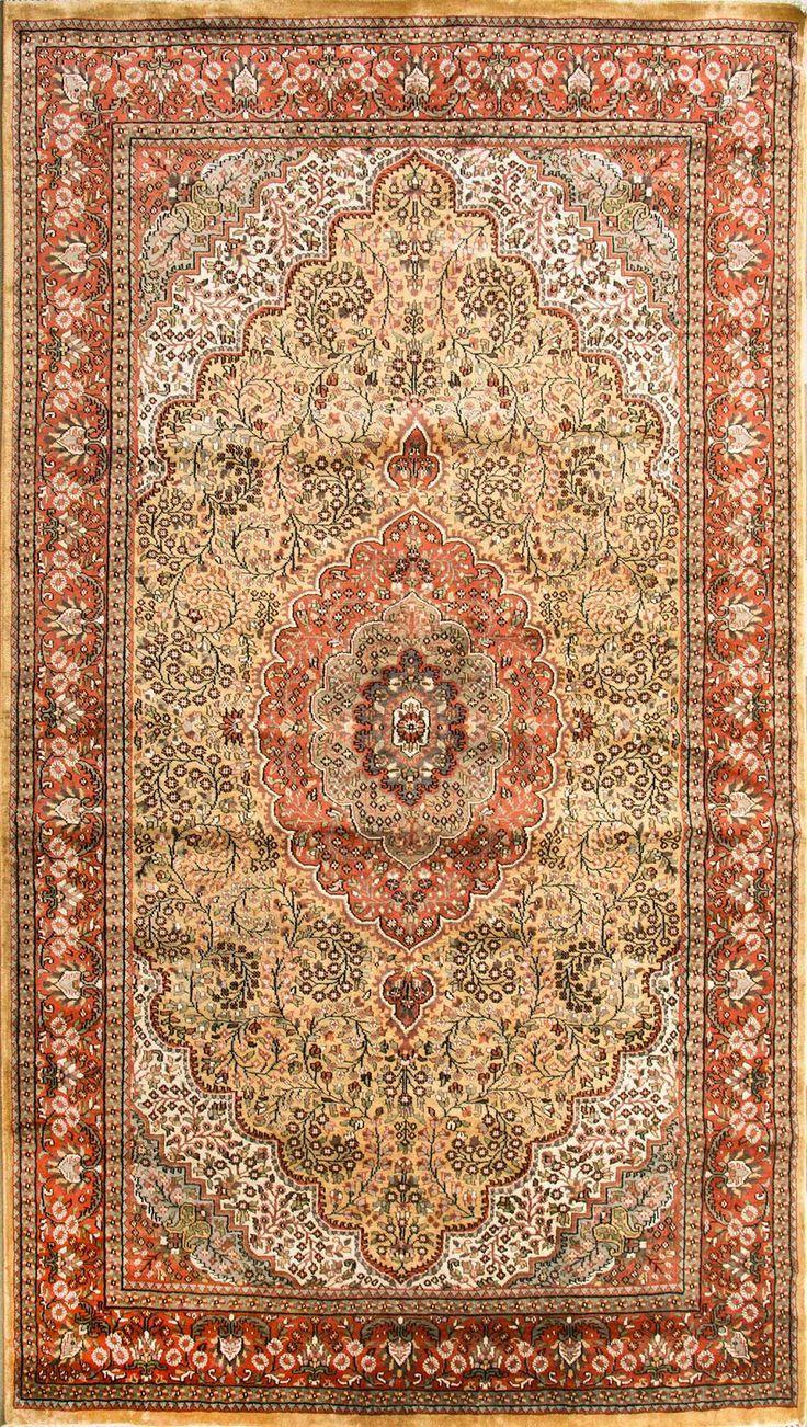 Oriental Silk Carpet Made In Kashmir India Carpet India Kashmir Oriental Silk Silkcarpet Silk Carpet Rugs On Carpet Carpet