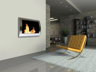 Chelsea Indoor Wall Mounted Biofuel Fireplace - by Ventless Fireplace Pros