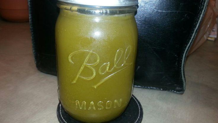 Mean green juice for breakfast