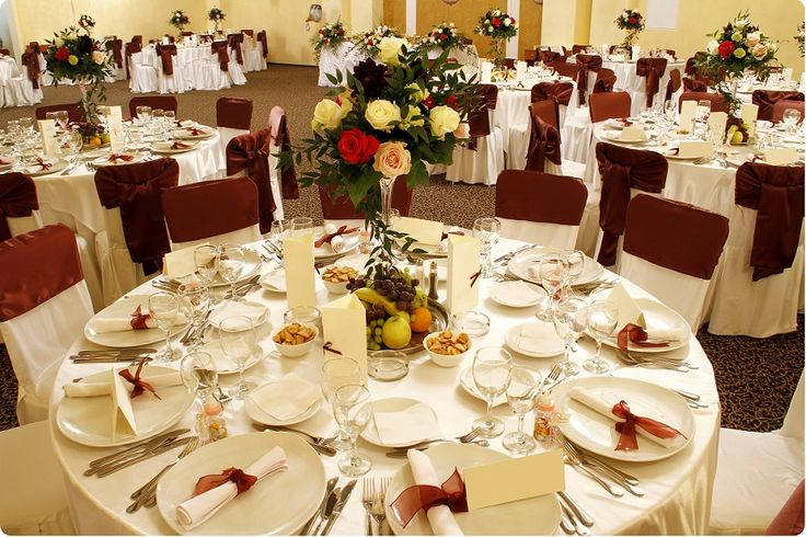 Wedding Ceremony Decoration Tips : Wedding Table Decorations Silver And White With Table Flowers