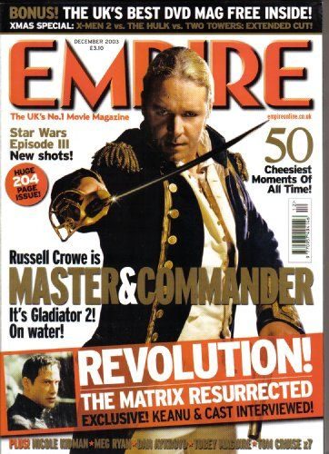 EMPIRE Magazine Issue No 174 December 2003 (Empire Magazine Vol 1 Issue 174) by Various http://www.amazon.co.uk/dp/B002KDDCZU/ref=cm_sw_r_pi_dp_arInvb0NKF7S8