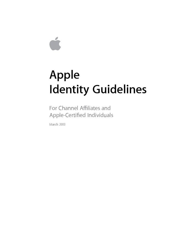 Apple Brand Guidelines