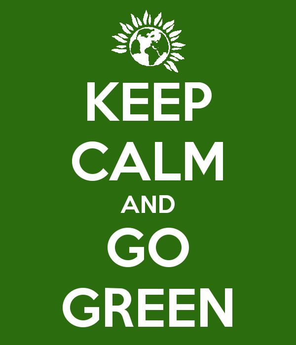 'KEEP CALM AND GO GREEN' Poster
