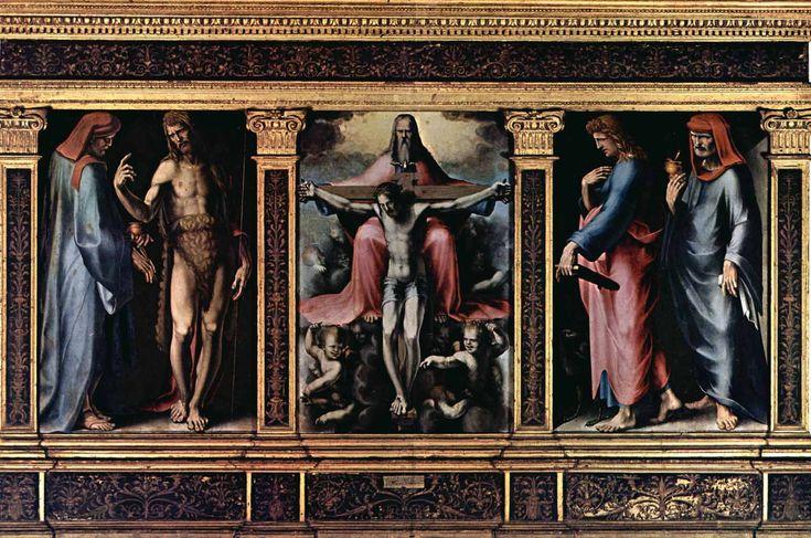 Доменико Беккафуми . «Троица» 1513 Дерево. Сиена. Национальная пинакотека.