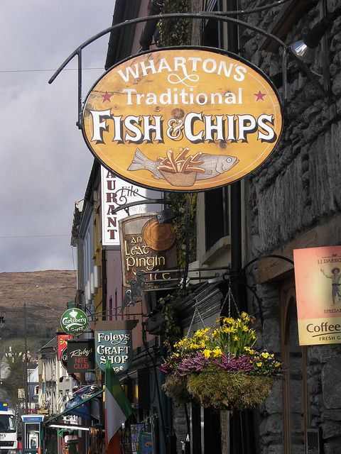 Traditional Fish & Chips Shop - Kenmare, Co Kerry, Ireland I love being able to say I've had legit fish & chips in Ireland :)