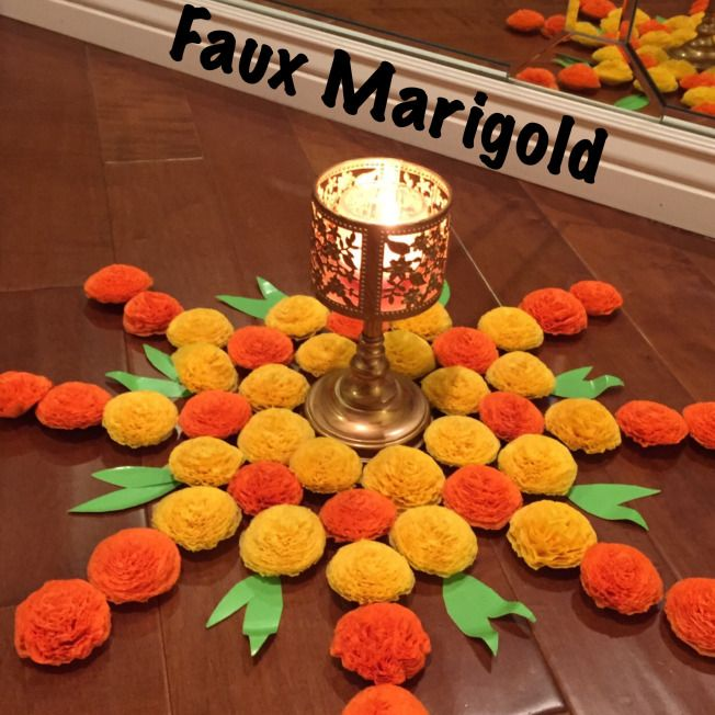 Faux Marigold Decorations!