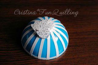 Cristina Fun Quilling: Tutorial Glob Om de Zapada