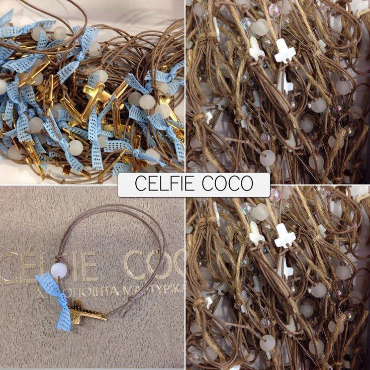 Χειροποίητα μαρτυρικά βάπτισης από τη Celfie Coco! www.nikolas-ker.gr