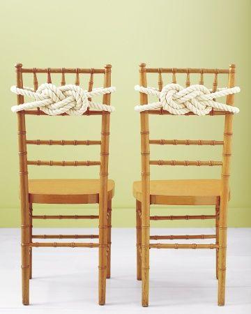 Nautical Inspiration: Rope Knot Chair Backs #WeddingWednesday