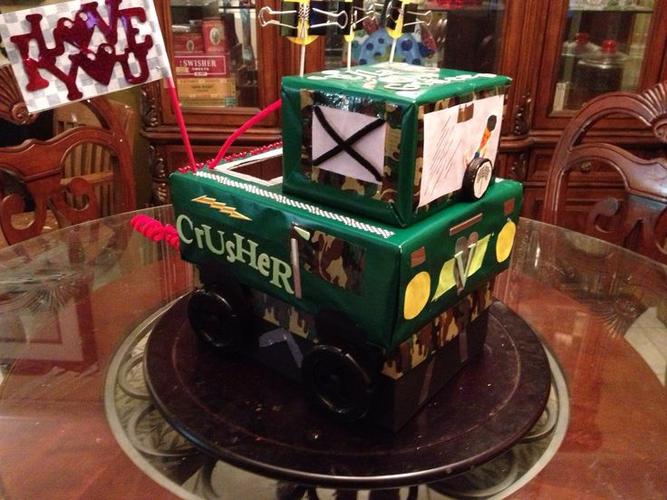 monster truck valentines box